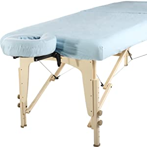cotton massage table sheet set skyblue