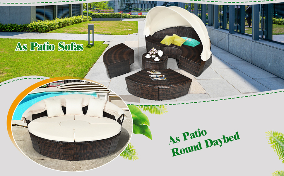 rattan outdoor daybed with canopy