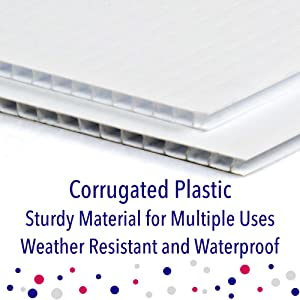 Corrugated Plastic Waterproof Sign