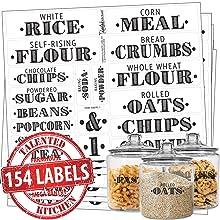Farmhouse Pantry Kitchen Labels