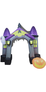 Tall Haunted House Archway Inflatable
