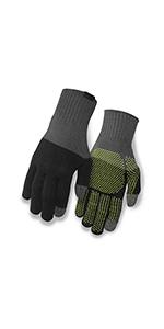 knit merino winter bike gloves