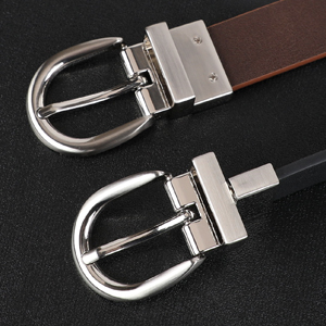 alloy rotated buckle reversible jeans belt
