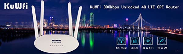 KuWFi 4G LTE Wireless WiFi Internet Router