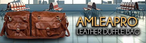 malettas de viaje bolsas de equipaje de transporte de cuero bolsa de transporte para hombres bolsa