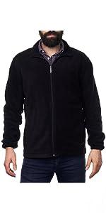 mens fleece jacket fleece sweater mens cold weather soft fleece zipper zip up jacket