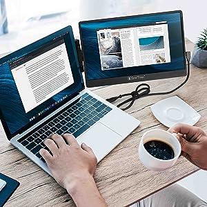 SideTrak swivel portable monitor coffee break work from home