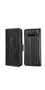 Galaxy S10 Plus Leather Wallet Case