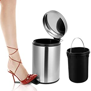foot pedal trash can