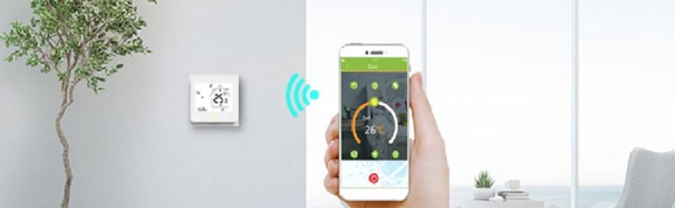 Decdeal - Termostato WiFi para caldera de Gas/Agua – Termostato ...