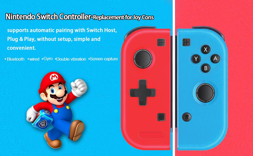 TUTUO Mando Switch para Nintendo Switch Joy con, Wireless ...
