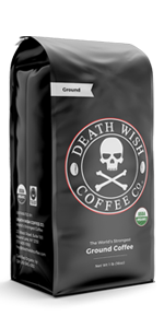 Death Wish's dark roast ground is the world's strongest coffee, perfect for caffeine lovers.