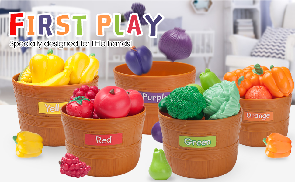 COLOR SORTING FRUITS AND VEGETABLES