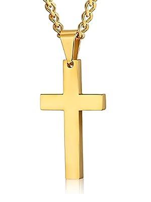 cross necklace men