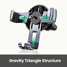 auto clamp car mount cradle