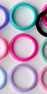 Silicone Wedding Band [10-Pack] - Silicone - Great for Sports / Travel / Color Coordination