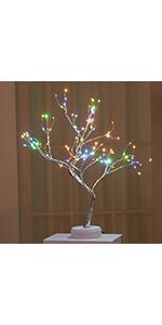 Copper Wire Tree Light