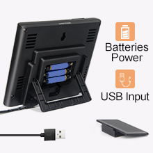 usb and batteries power