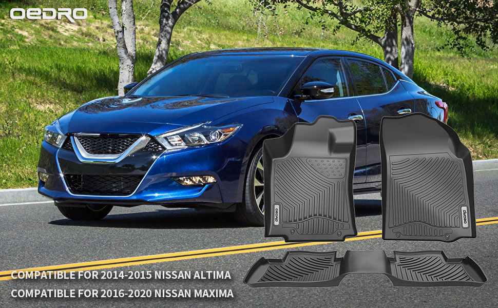 OEDRO Floor Mats Compatible for 2014-2015 Nissan Altima / 2016-2020 Nissan Maxima,