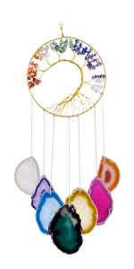 7 Chakra Agate Slices Wind Chime