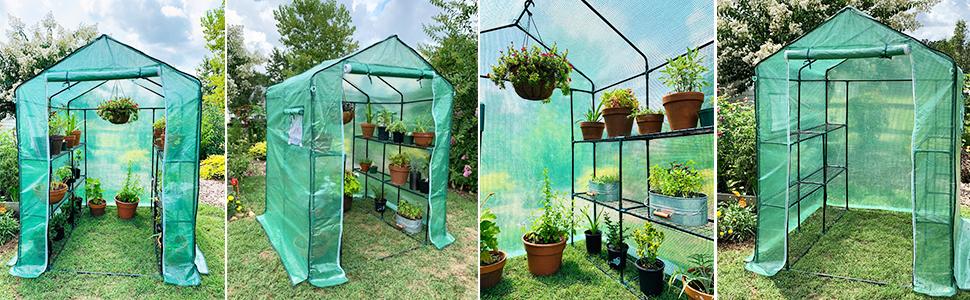 ohuhu greenhouse walkin green house for patio garden small greenhouse