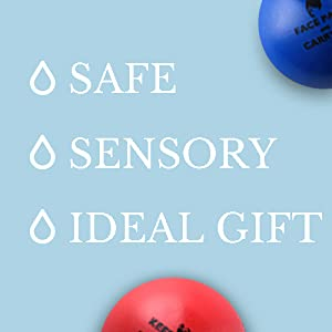 sensory stressballs, perfect gift, gift for colleague, work gift
