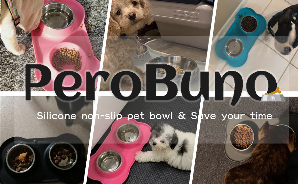 PeroBuno Cat and Dog bowl