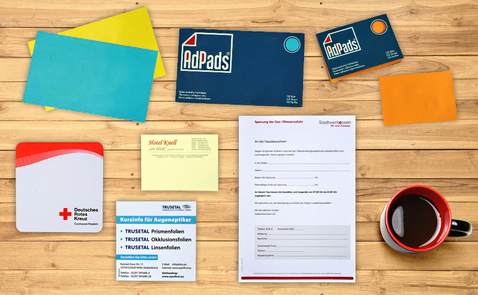 AdPads, Haftnotizen, Sticky Notes,