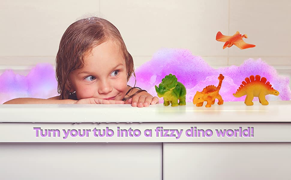 Turn Your Tub into a Fizzy Dino World!