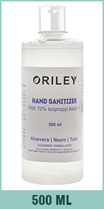 Oriley Hand Sanitizer 70% Isopropyl Alcohol Based Instant Germ Protection Sanitizing Gel Rinse-free
