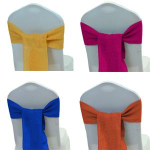 burlap chair sash