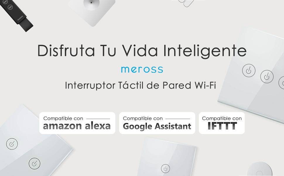 Google Assistant y IFTTT,Control de APP y Funci/ón de Temporizador Yagusmart Wifi Interruptor Inteligente,NO se requiere cable neutro,Compatible con Alexa Echo 1 gang