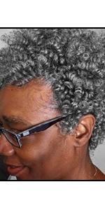 Queentas 3 pack Crochet Carrie Curl Hair Extension