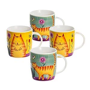 Juego de 2 Tazas Desayuno Originales de Porcelana Fina, Tazas de ...