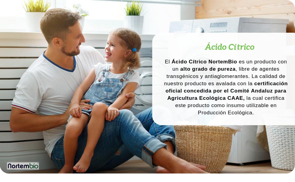 NortemBio Ácido Cítrico 1 Kg. Polvo Anhidro, 100% Puro. para ...