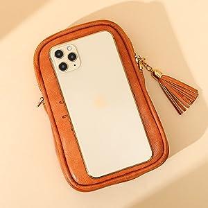 APHISON Small Crossbody Bag Cellphone Purse for Women Girls Mini Messenger Dating Shoulder Bag