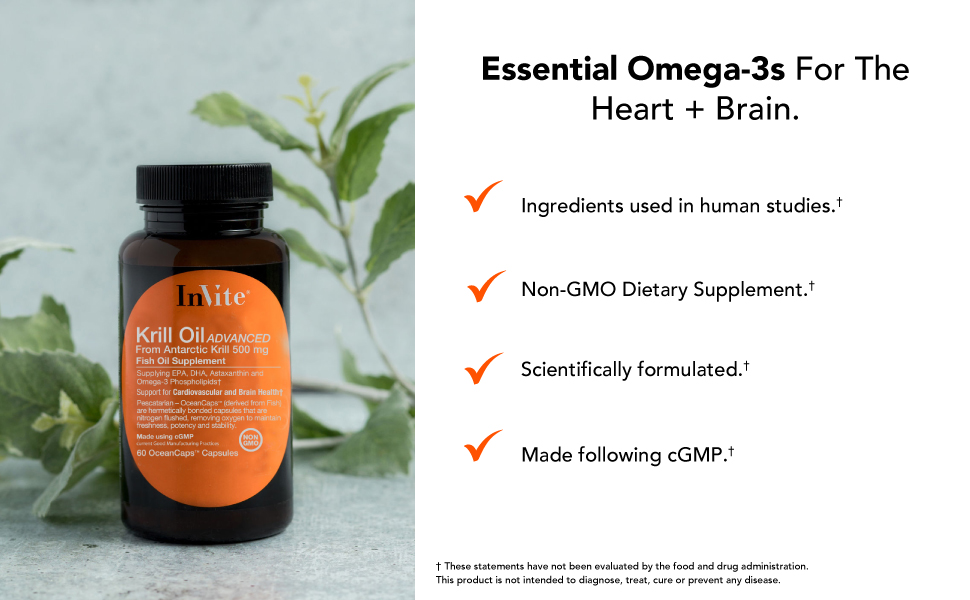 Essential Omega-3s for the heart and brain.