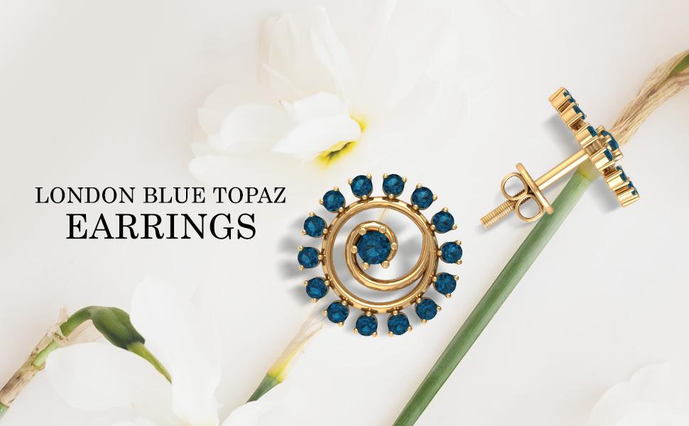 Banner London Blue Topaz Earrings