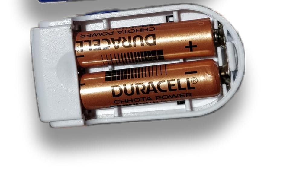 Long lasting duracell inside