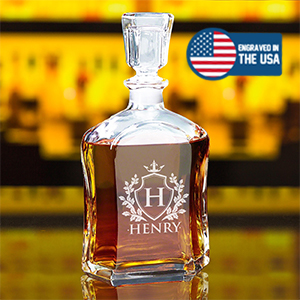 Personalized Whiskey Decanter, Custom Engraved Decanter, Customized Whiskey Decanter