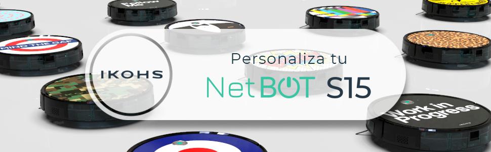 IKOHS NETBOT S15 - Robot aspirador profesional 4 en 1: barre ...