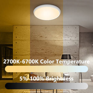 "1  YUNLIGHTS Smart Ceiling Light – Smart Ceiling Light Flush Mount Compatible with Alexa & Google Home, Smart Ceiling Light Flush Mount Wifi with App Control RGB Dimming IP65 Waterproof Timer, 24W & 12"" 8595c4ae 9a44 4433 b0f2 937a2ad2dcb4"