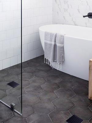 shower drain black