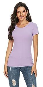 women short sleeve crew neck shirt