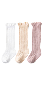 Babasee 1 Pairs Baby Socks Girls Frilly Lace Dress Socks for Toddler Newborn Infant