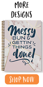 """Messy Bun, checklist, get it done, to do list, 8.5"""" x 11"""", softcover, spiral notebook"""