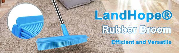 LandHope Rubber Broom