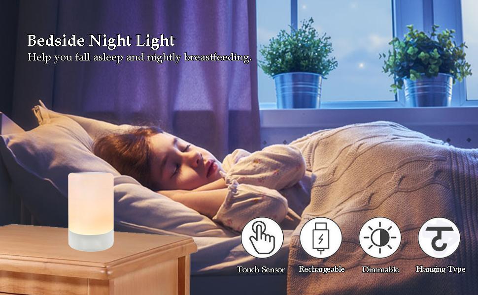 LED bedside night lamp