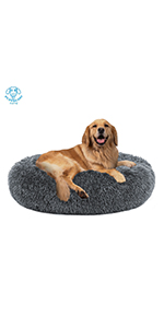 donut dog bed