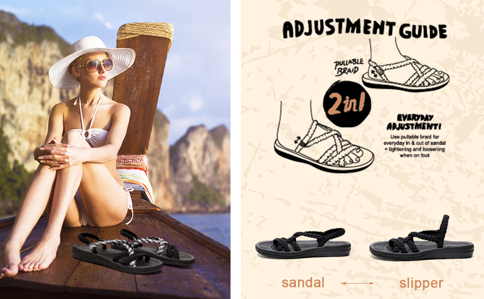 rope sandals for women